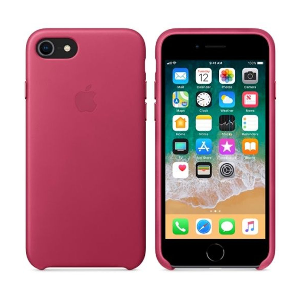 Чехол IPhone 8/7 Leather Case MQHG2ZM/A Pink Fuchsia