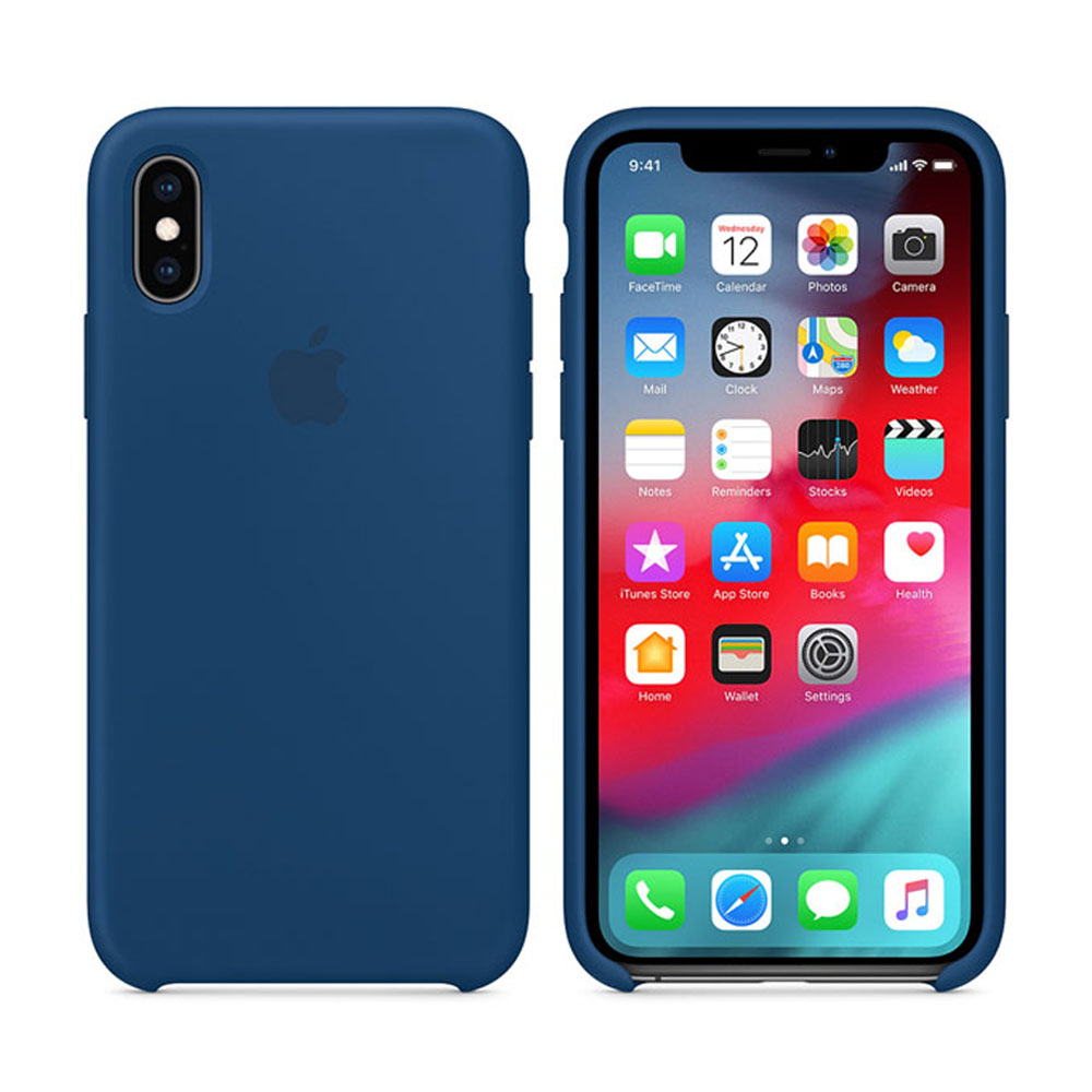 Чехол IPhone XS Silicon Case MTF92ZM/A Blue Horizon