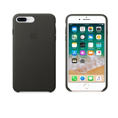 Чехол IPhone 8 Plus/7 Plus Leather Case MQHP2ZM/A Charcoal Gray
